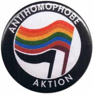 25mm Button: Antihomophobe Aktion