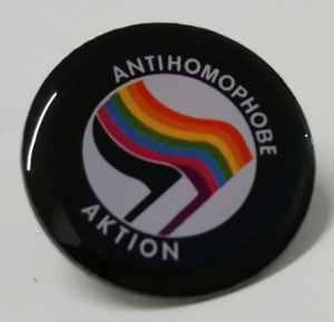 Anstecker / Pin: Antihomophobe Aktion
