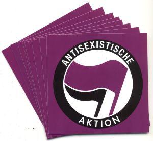 Aufkleber-Paket: Antisexistische Aktion