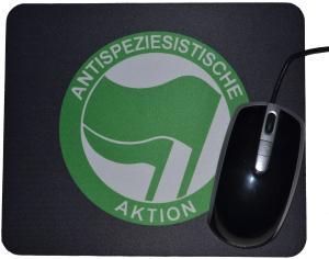 Mousepad: Antispeziesistische Aktion (grün/grün)
