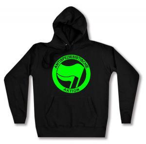 taillierter Kapuzen-Pullover: Antispeziesistische Aktion (grün/grün)
