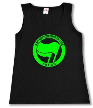 tailliertes Tanktop: Antispeziesistische Aktion (grün/grün)