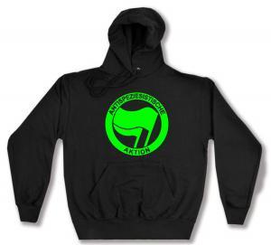 Kapuzen-Pullover: Antispeziesistische Aktion (grün/grün)