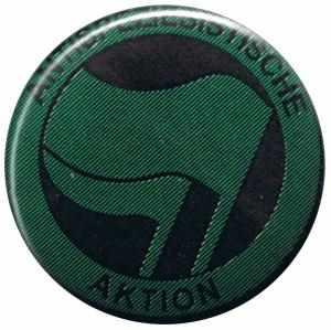 37mm Magnet-Button: Antispeziesistische Aktion (grün/grün)