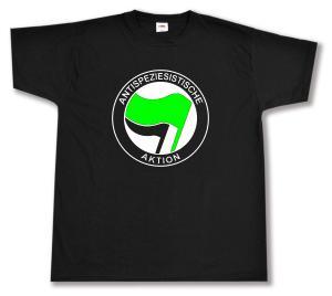 T-Shirt: Antispeziesistische Aktion (grün/schwarz)