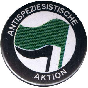 25mm Magnet-Button: Antispeziesistische Aktion (grün/schwarz)