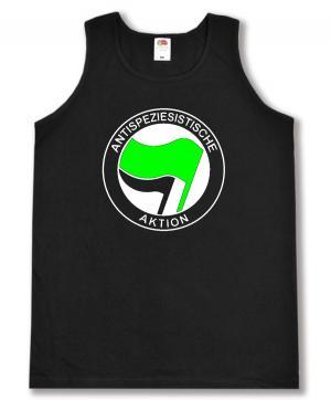 Tanktop: Antispeziesistische Aktion (grün/schwarz)