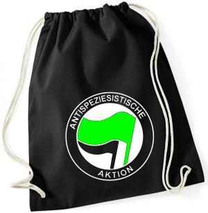 Sportbeutel: Antispeziesistische Aktion (grün/schwarz)