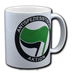 Tasse: Antispeziesistische Aktion (grün/schwarz)