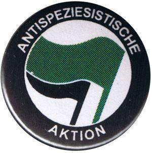 37mm Magnet-Button: Antispeziesistische Aktion (grün/schwarz)
