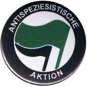 50mm Magnet-Button: Antispeziesistische Aktion (grün/schwarz)