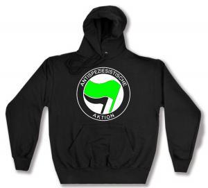 Kapuzen-Pullover: Antispeziesistische Aktion (grün/schwarz)