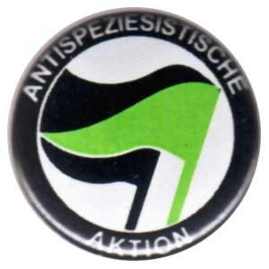 50mm Magnet-Button: Antispeziesistische Aktion (schwarz-grün/schwarz)