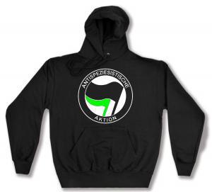 Kapuzen-Pullover: Antispeziesistische Aktion (schwarz/grün)