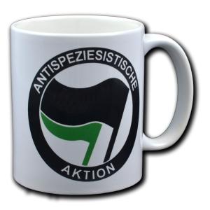 Tasse: Antispeziesistische Aktion (schwarz/grün)