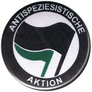 25mm Magnet-Button: Antispeziesistische Aktion (schwarz/grün)