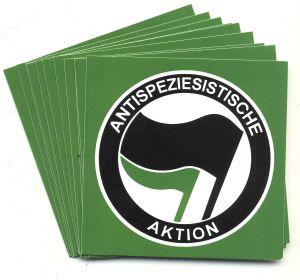 Aufkleber-Paket: Antispeziesistische Aktion (schwarz/grün)