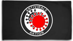 Fahne / Flagge (ca. 150x100cm): Antivirale Aktion