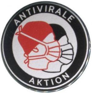 25mm Button: Antivirale Aktion - Mundmasken