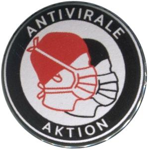 37mm Button: Antivirale Aktion - Mundmasken