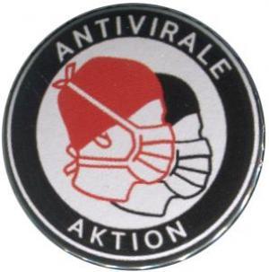 50mm Magnet-Button: Antivirale Aktion - Mundmasken