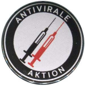 37mm Button: Antivirale Aktion - Spritzen