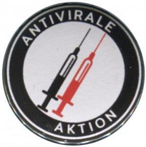 50mm Button: Antivirale Aktion - Spritzen