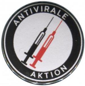 50mm Magnet-Button: Antivirale Aktion - Spritzen