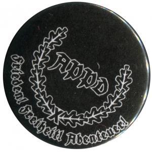 25mm Magnet-Button: APPD Ährenkranz Frieden! Freiheit! Abenteuer! (schwarz)