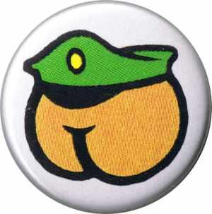 37mm Magnet-Button: Arsch mit Mütze