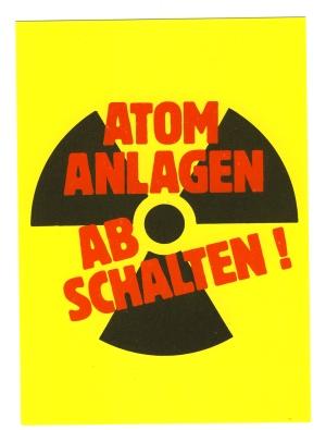 Postkarte: Atomanlagen abschalten!