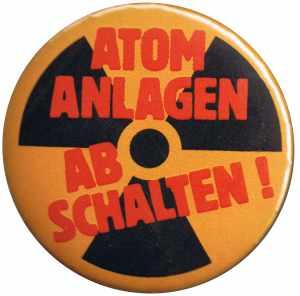 25mm Magnet-Button: Atomanlagen abschalten!