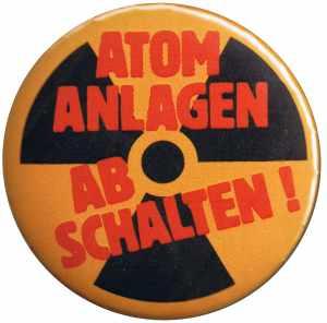 50mm Magnet-Button: Atomanlagen abschalten!