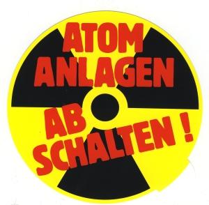 Aufkleber: Atomanlagen abschalten!