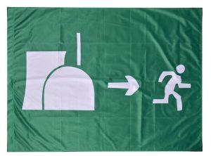 Fahne / Flagge (ca. 150x100cm): Atomausstieg
