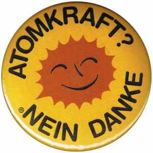 25mm Button: Atomkraft? Nein Danke
