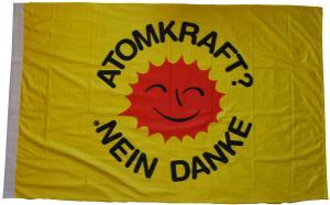 Fahne / Flagge (ca. 150x100cm): Atomkraft? Nein Danke
