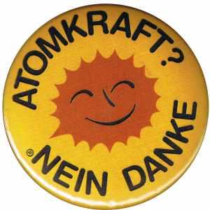 25mm Magnet-Button: Atomkraft? Nein Danke