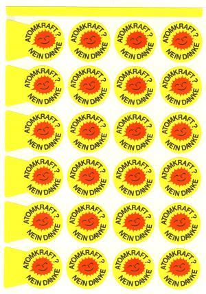Papieraufkleber: Atomkraft? Nein Danke (24 Stück)