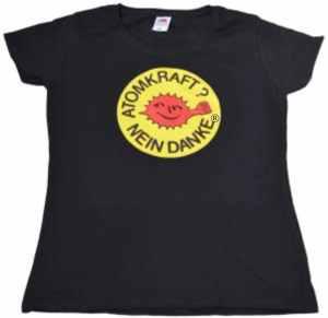 tailliertes T-Shirt: Atomkraft? Nein Danke - mit Faust
