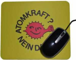 Mousepad: Atomkraft? Nein Danke - mit Faust