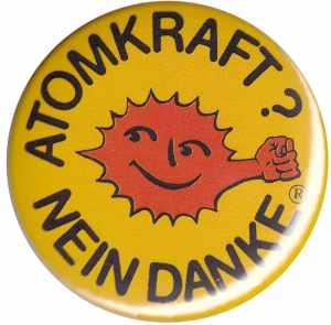 25mm Button: Atomkraft? Nein Danke - mit Faust