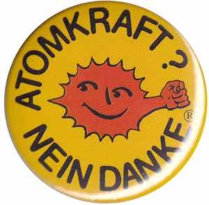 25mm Magnet-Button: Atomkraft? Nein Danke - mit Faust