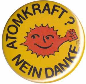 50mm Button: Atomkraft? Nein Danke - mit Faust