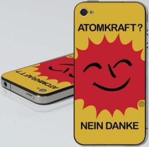 iPhone 4 - Aufkleber: Atomkraft? Nein Danke