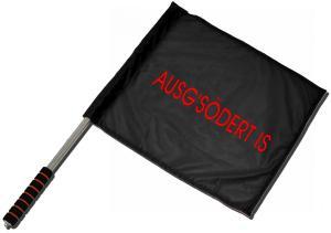 Fahne / Flagge (ca. 40x35cm): Ausg'Södert is