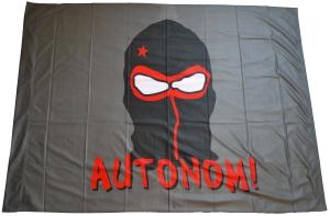 Fahne / Flagge (ca. 150x100cm): Autonom!