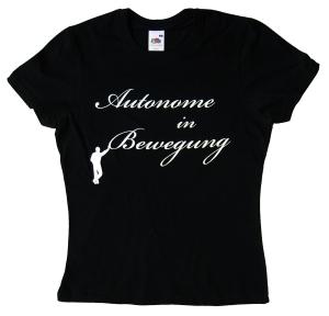 tailliertes T-Shirt: Autonome in Bewegung