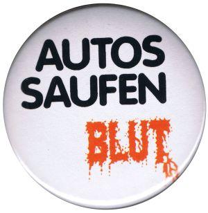 37mm Magnet-Button: Autos saufen Blut