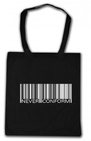 Baumwoll-Tragetasche: Barcode - Never conform